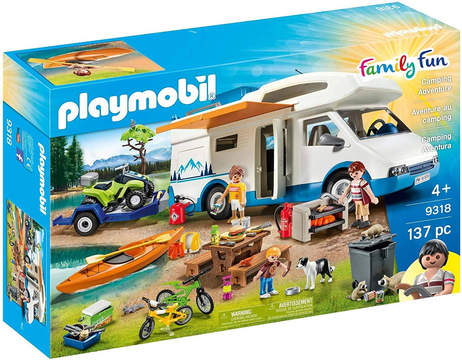 Playmobil 9318 Family Fun Camping Adventure Set