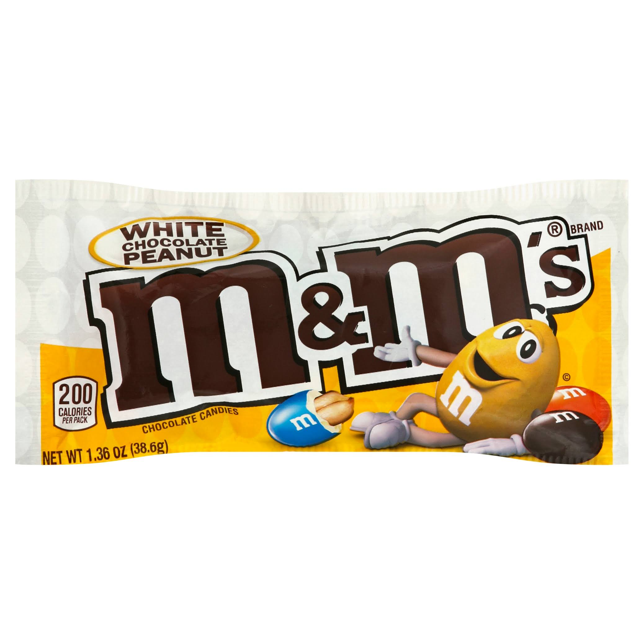 M & M Chocolate Candies, White Chocolate Peanut - 1.36 oz