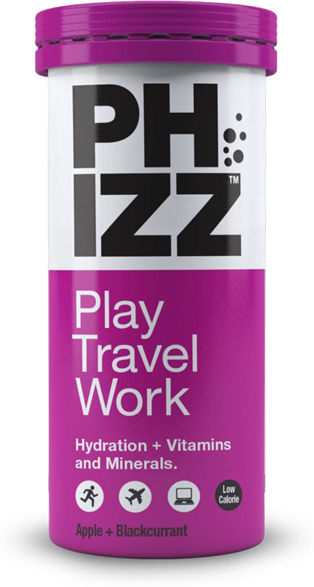 Phizz Apple & Blackcurrant Hydration Plus Vitamins and Minerals Tablet - 10ct
