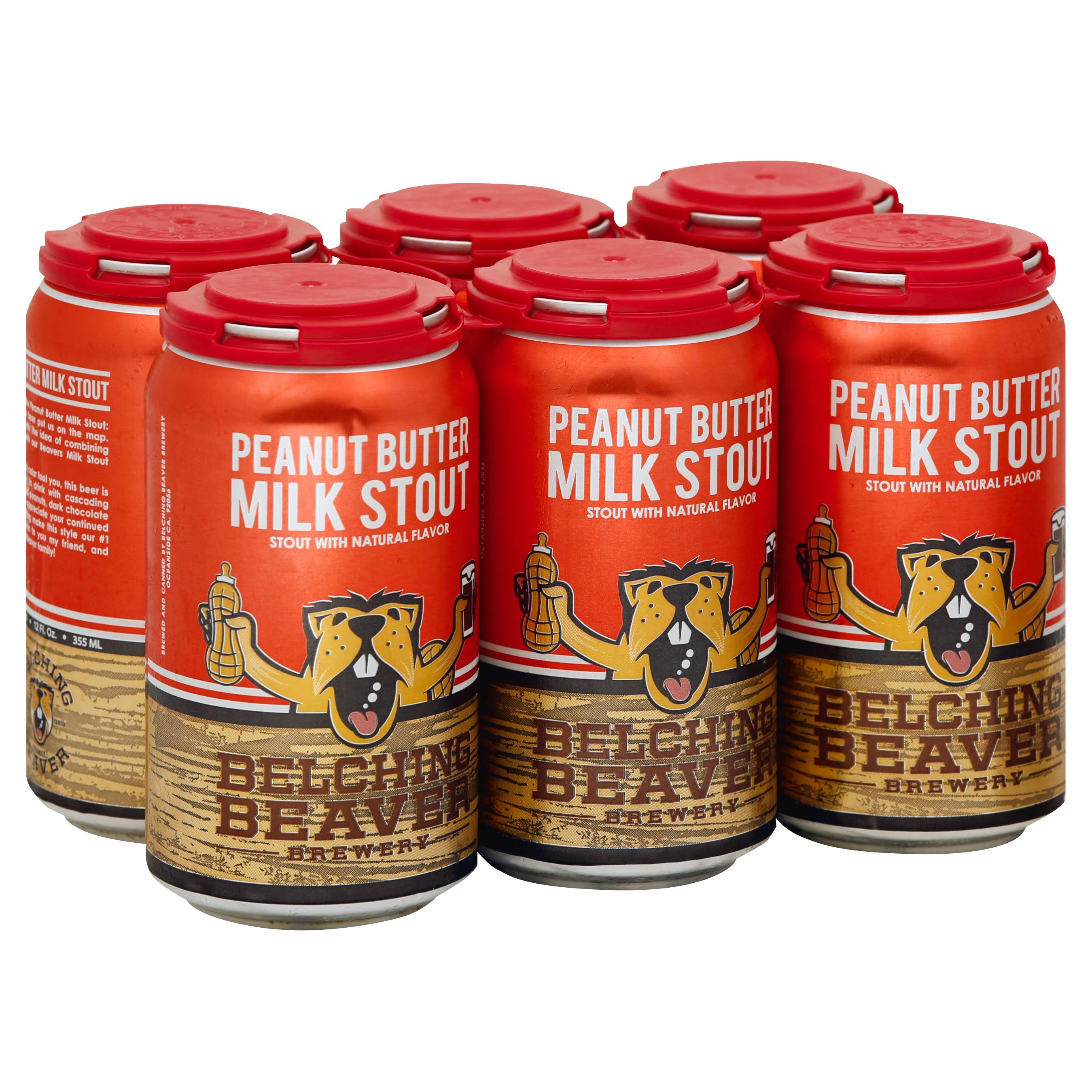 Belching Beaver Sweet Stout - 6 pack, 12 fl oz cans