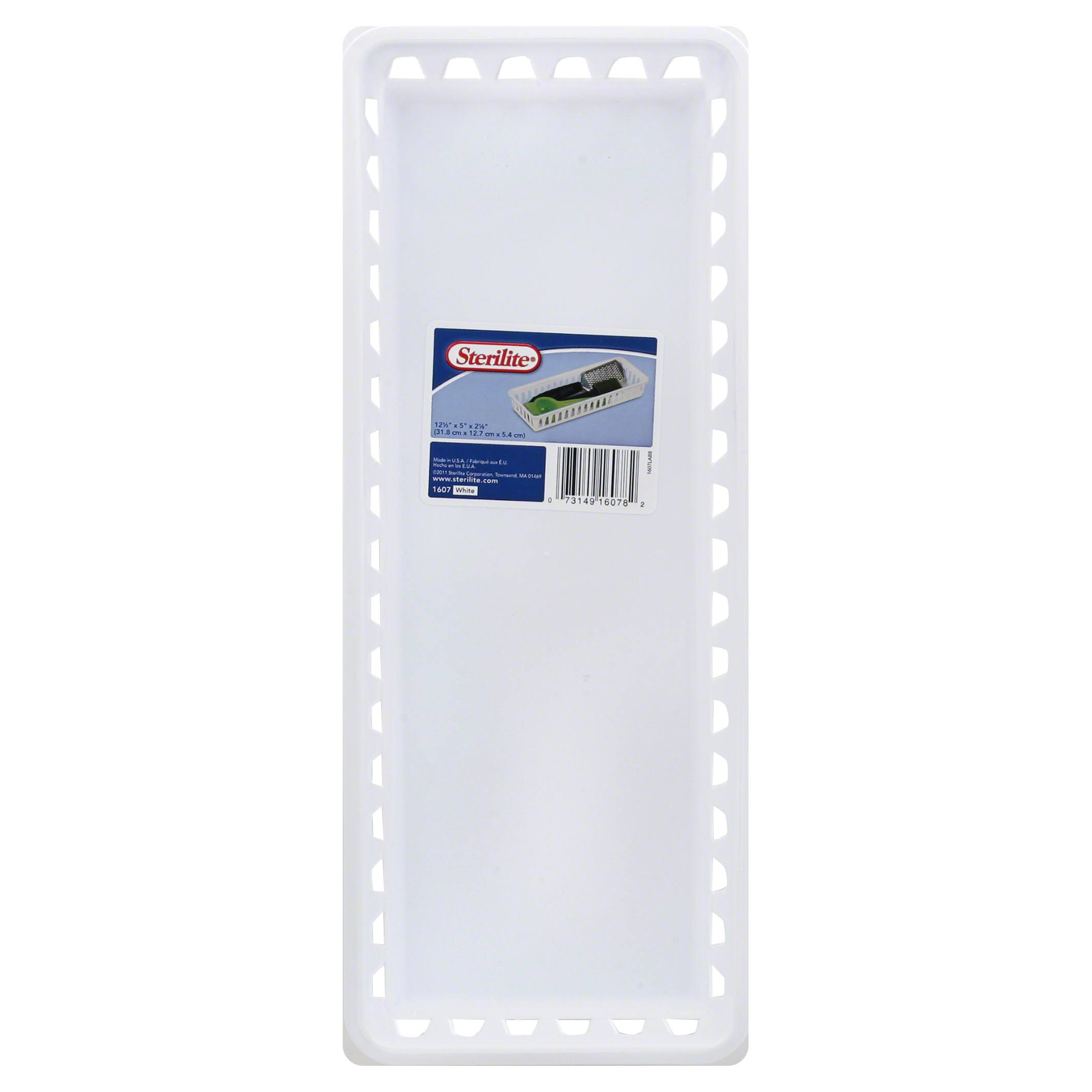 Sterilite Slim Storage Tray - White