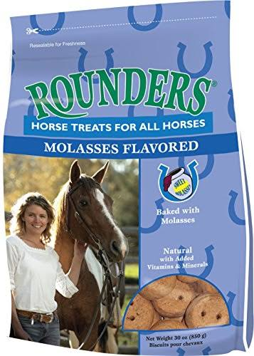 Kent Nutrition Rounders Molasses Flavored Horse Treats - 30oz