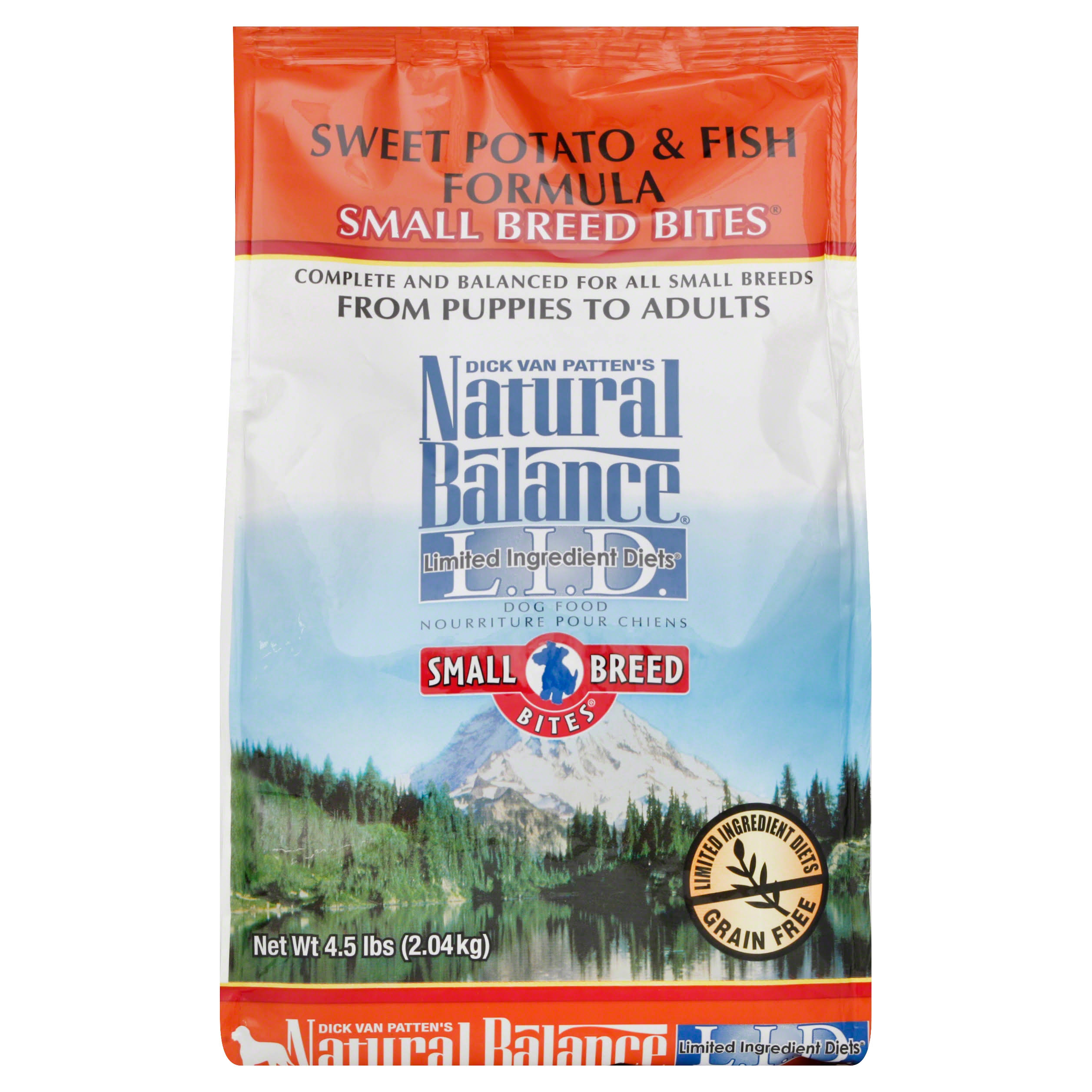 Natural Balance Small Breed Bites Limited Ingredient Diets Dog Food - Sweet Potato and Fish Formula, Dry, 4.5lb