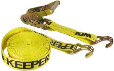"Keeper 04622 Heavy Duty Ratcheting Tie Down - Yellow, 2""x27'"