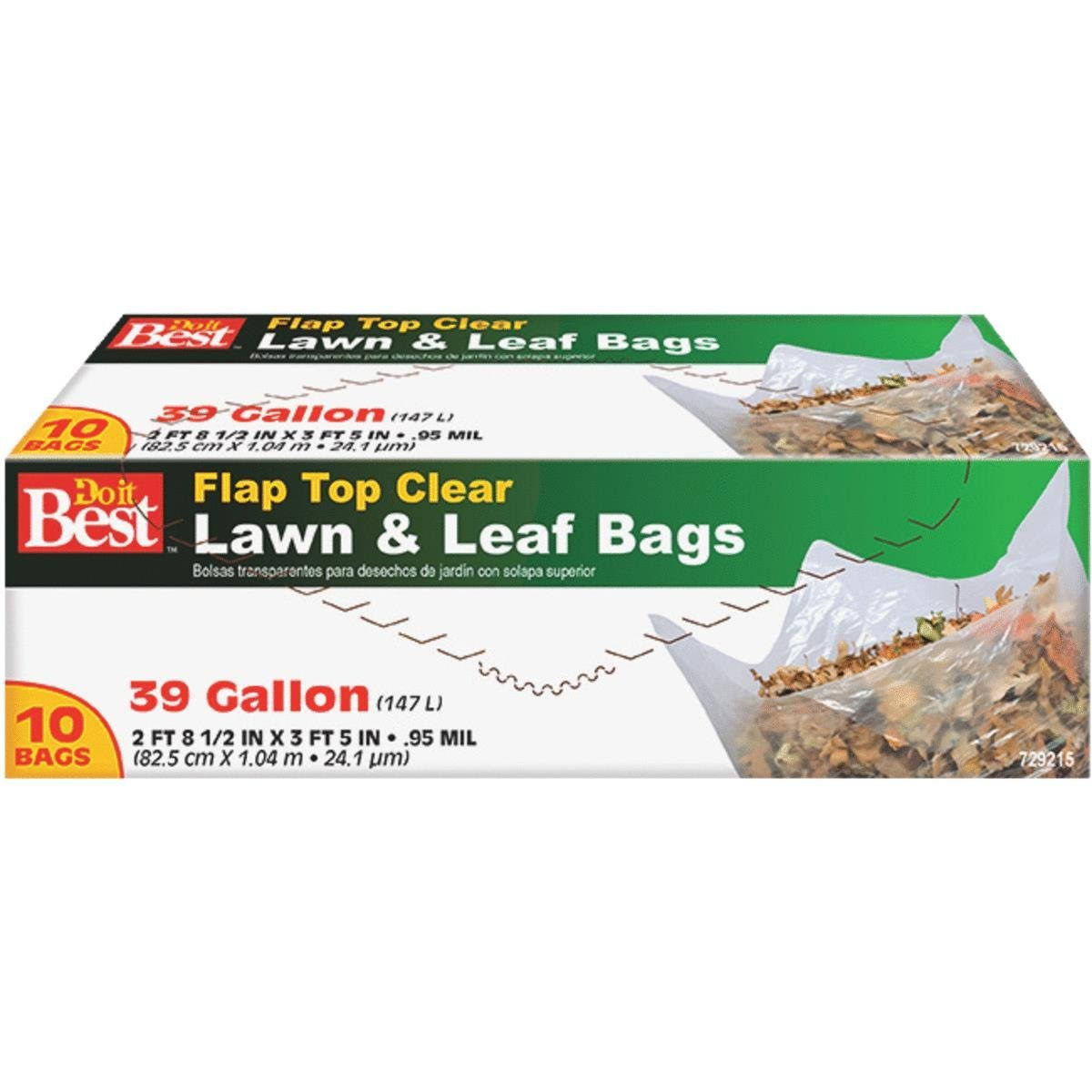 Do It Best Twitst Tie Clear Lawn & Leaf Bags - 39gal, 10pcs