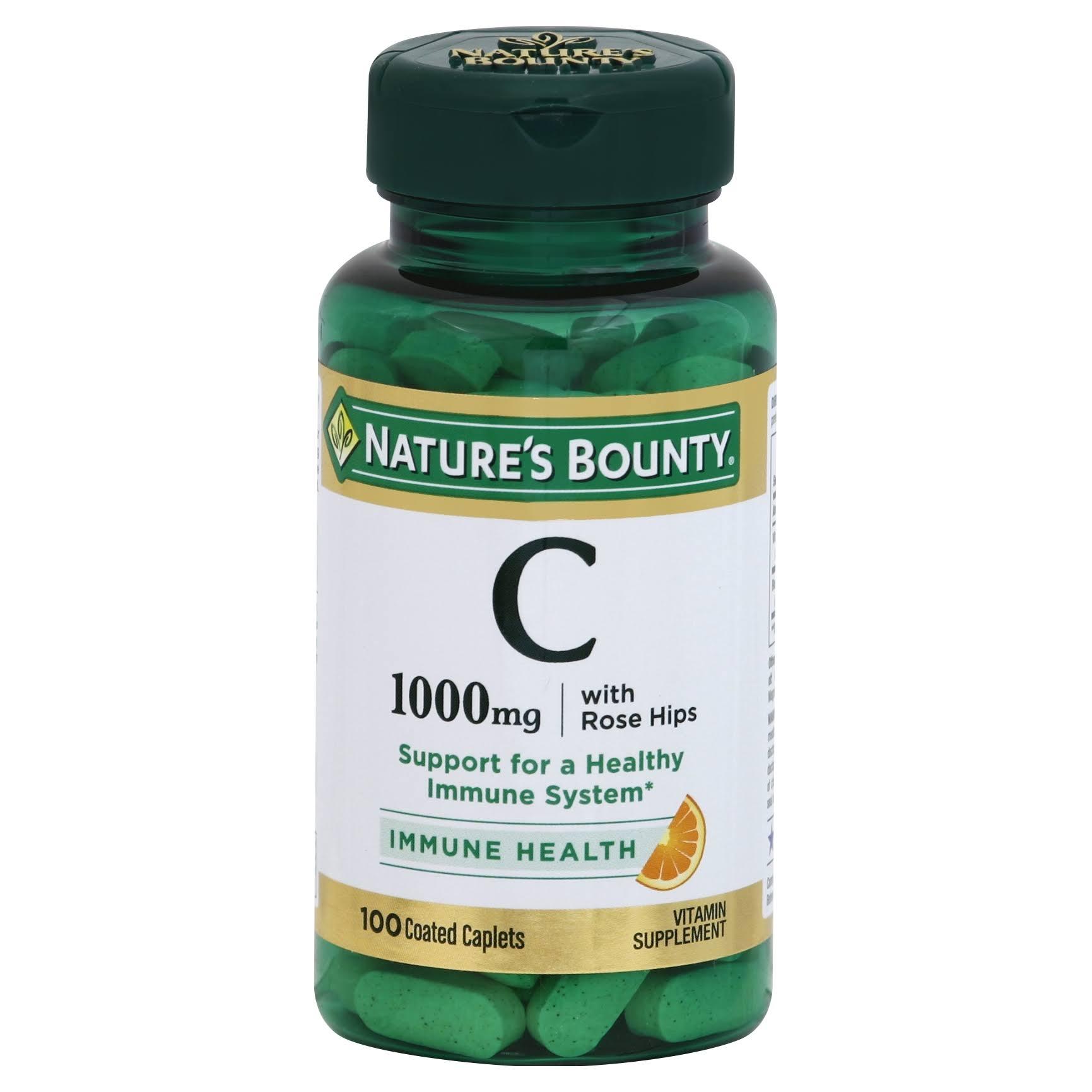 Nature's Bounty C Immune Health Coated Caplets 1000mg - 100 Pack