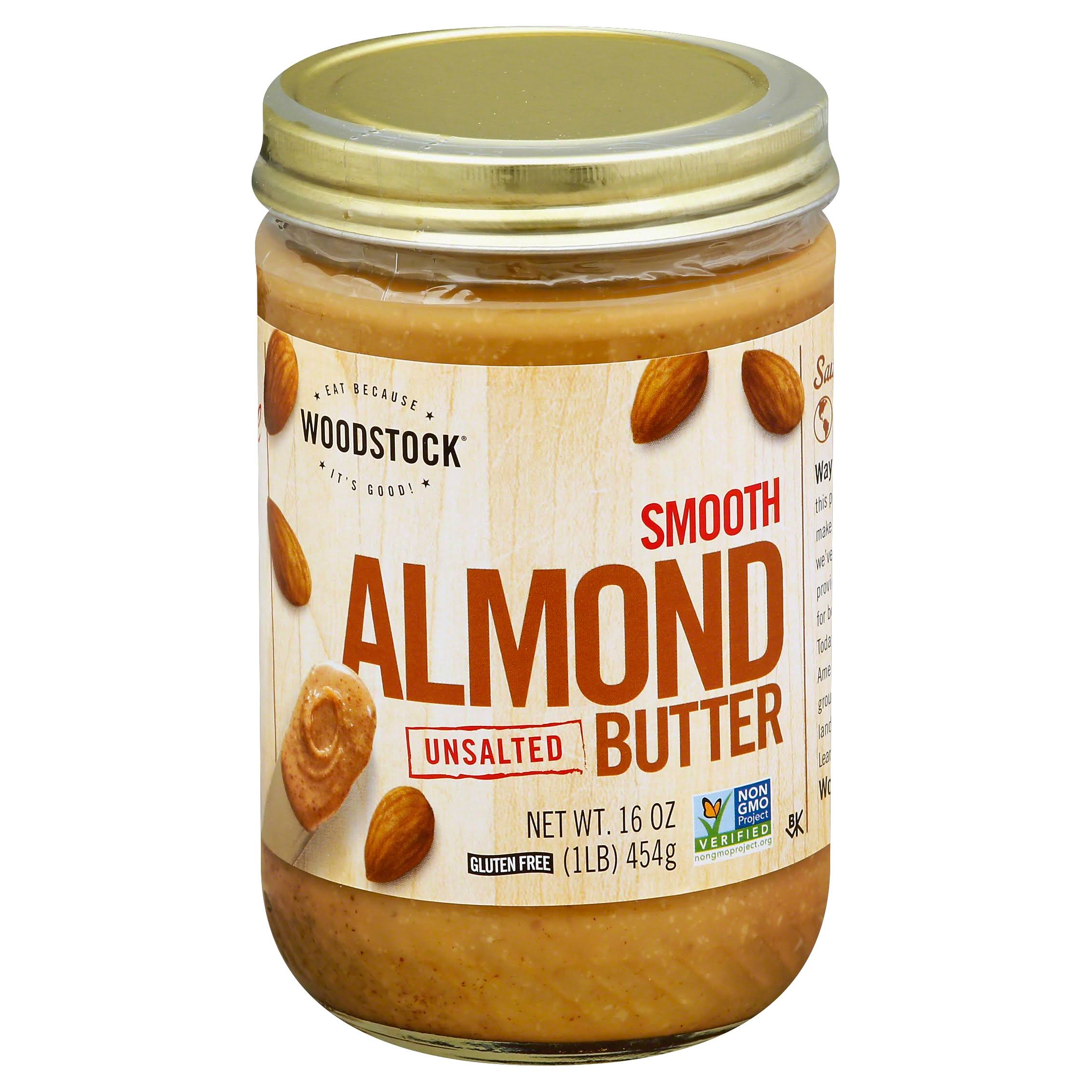 Woodstock Smooth All Natural Almond Butter - Unsalted