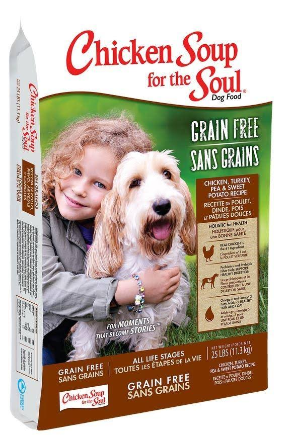Chicken Soup for The Soul Grain Free Chicken, Turkey & Pea Dry Dog Food, 25 lb