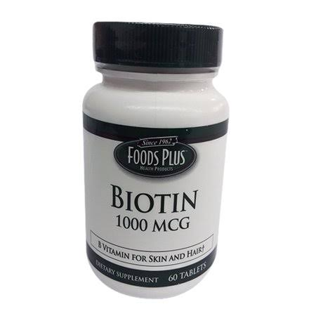 Food Plus Vitamins Biotin Tablets - 60ct