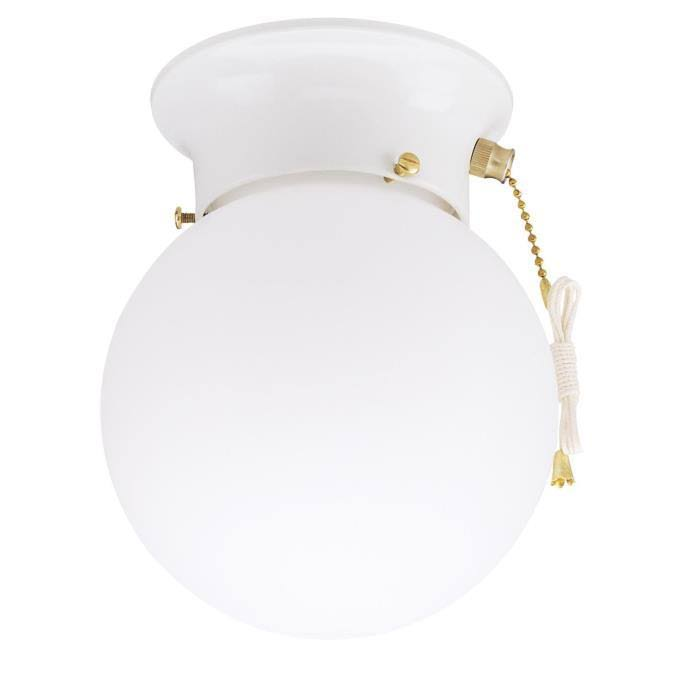 Westinghouse Ceiling Light Fixture - White, with Pull Chain