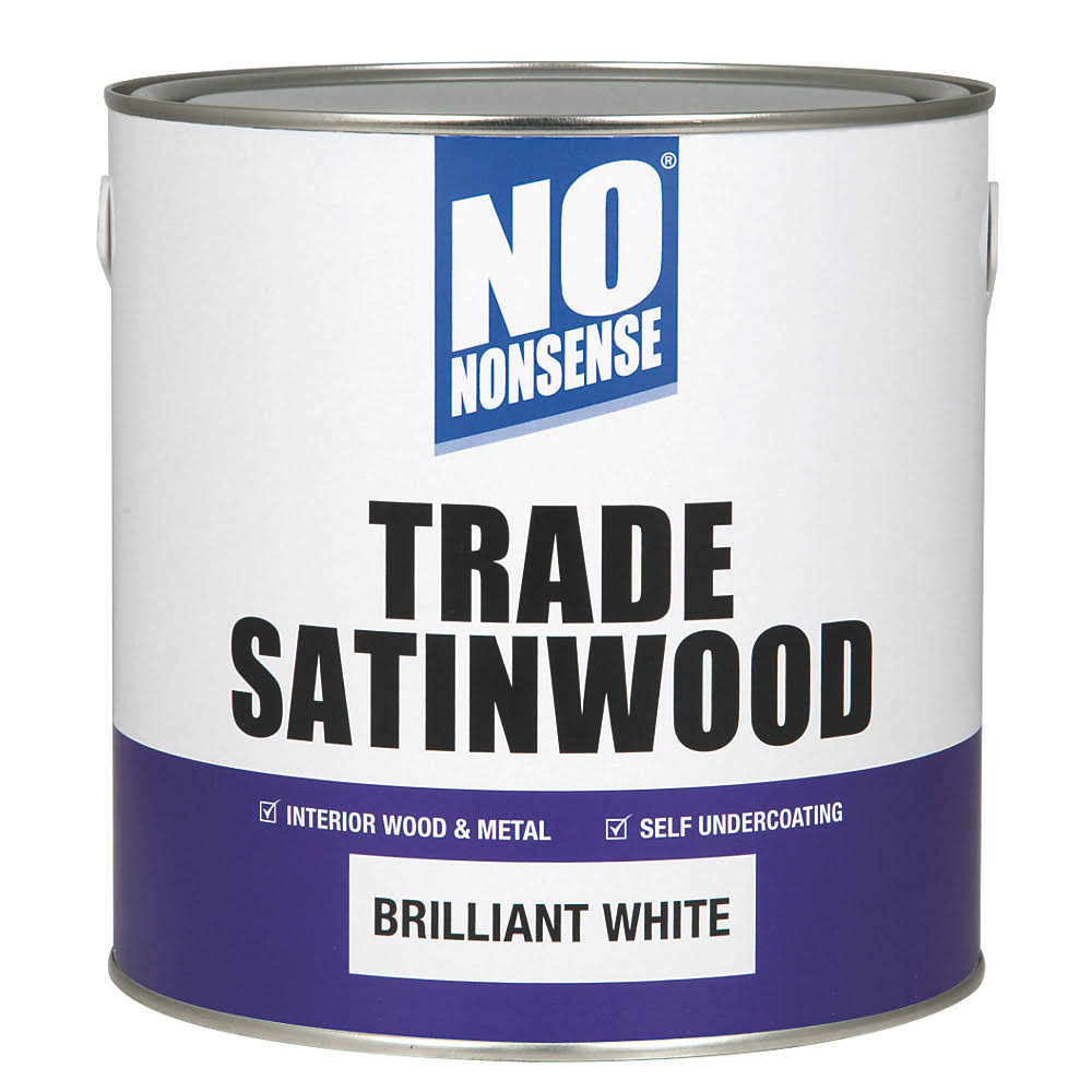 No Nonsense Trade Satinwood Brilliant White 2.5ltr (67771)