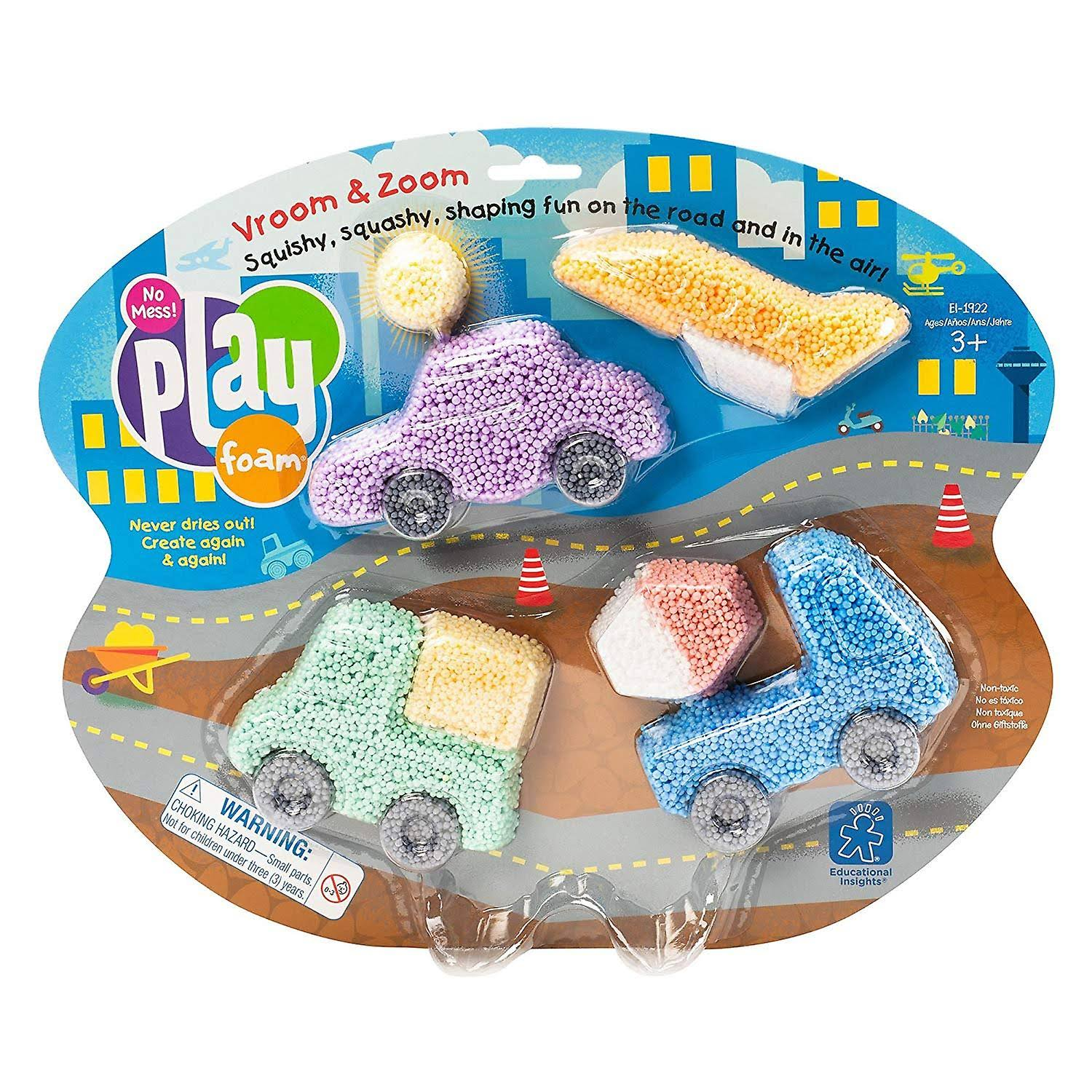 Educational Insights Playfoam Toy Set - Vroom and Zoom Themed Set