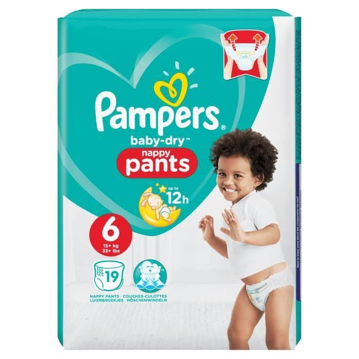 Pampers Baby Dry Nappy Pants - #6, 19ct