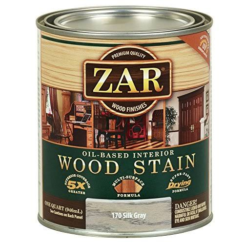 Zar Oil Based Interior Wood Stain - Silk Gray, 1 Quart