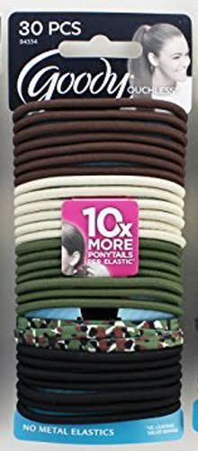 Goody Ouchless Elastics, No Metal - 30 elastics
