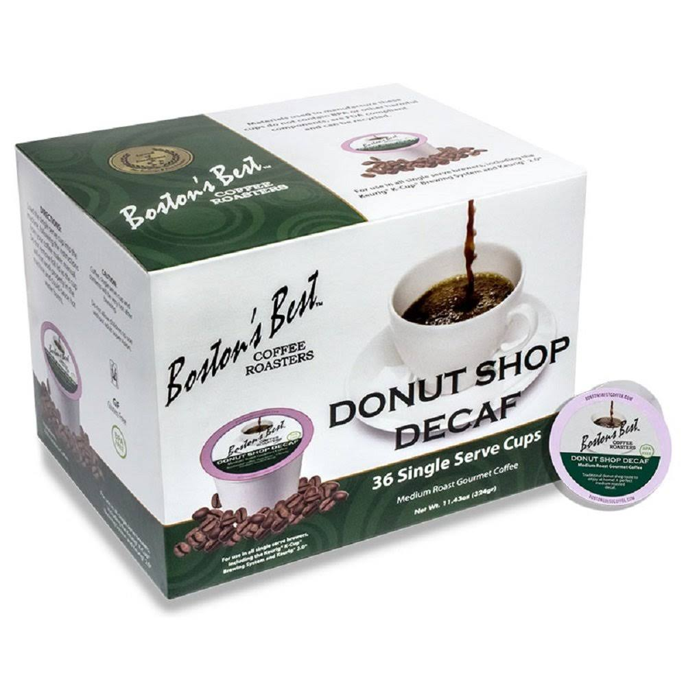 Bostons Best Coffee Donut Shop Decaf Single
