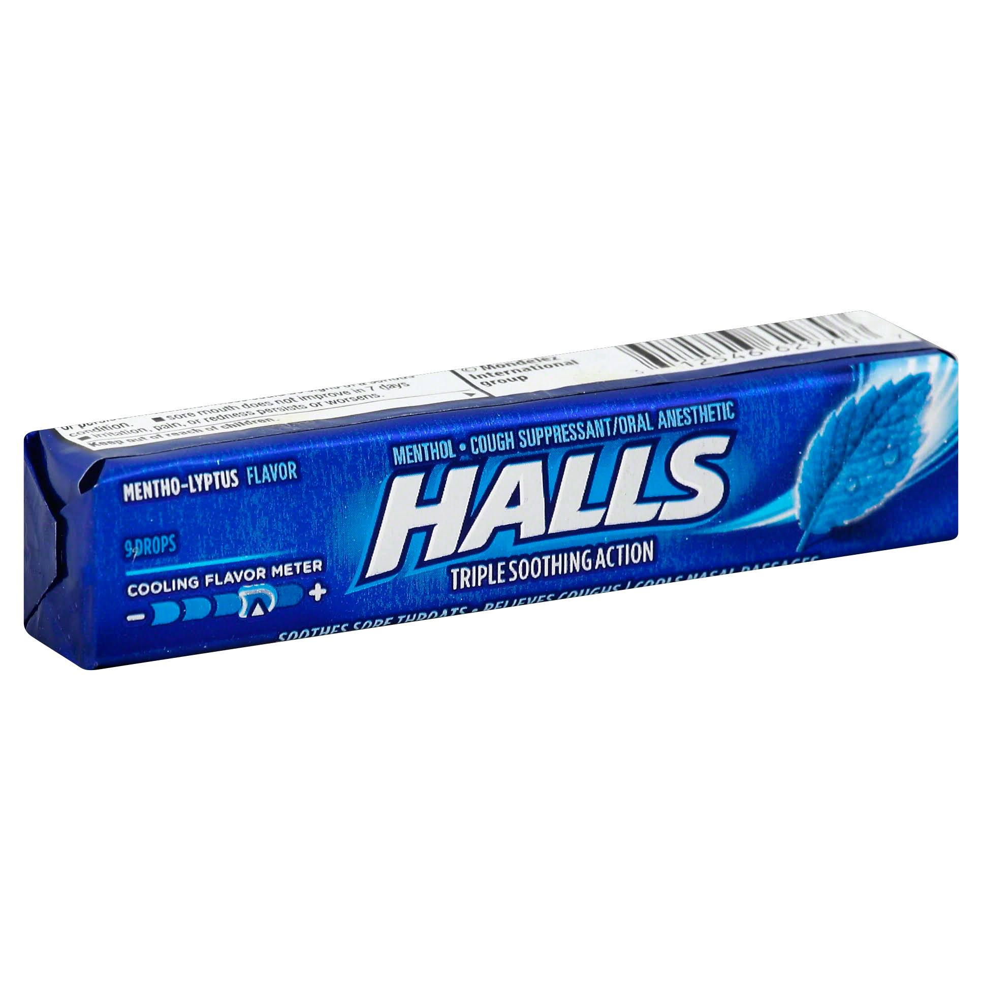 Halls Cough Suppressant/Oral Anesthetic, Menthol, Mentho-Lyptus - 9 drops