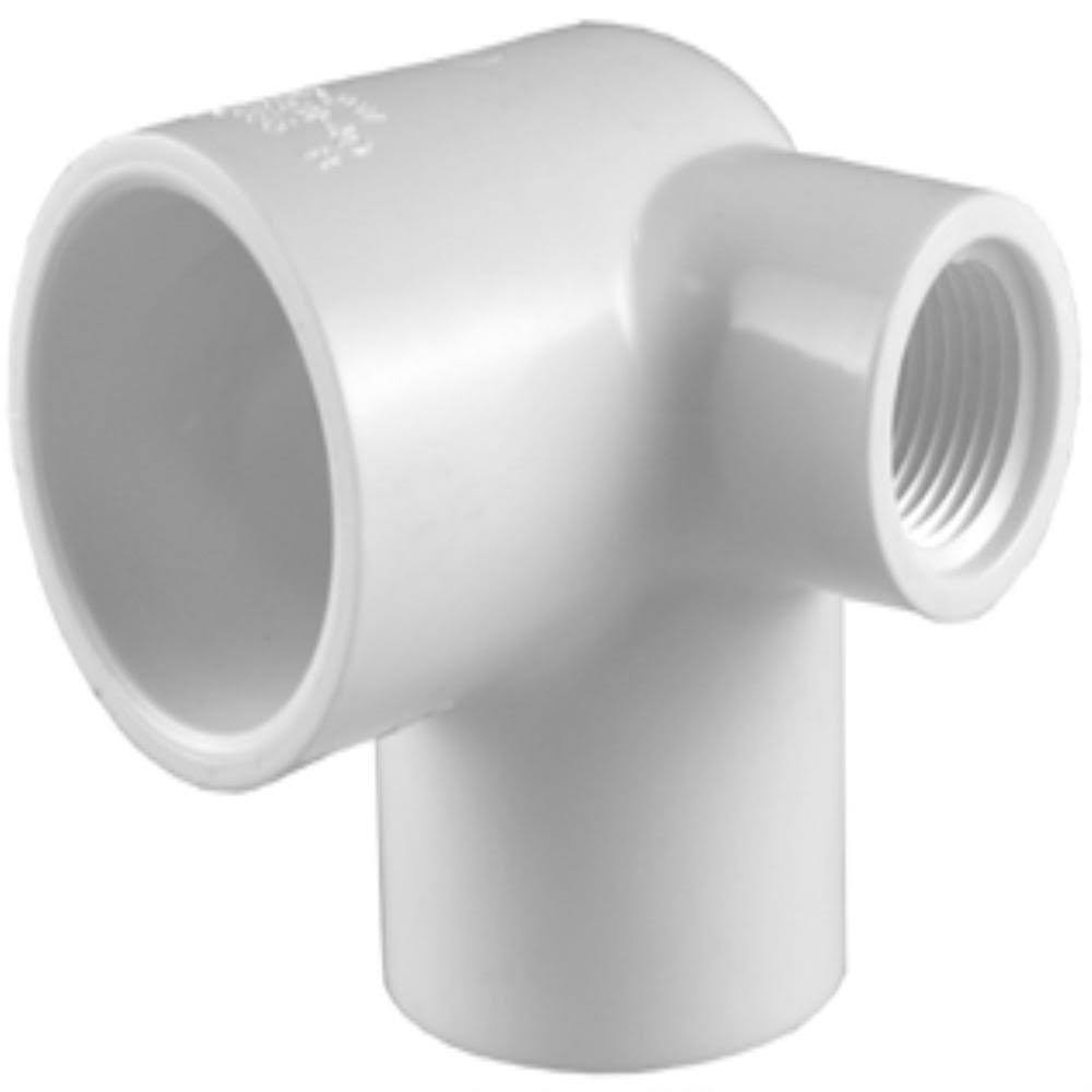 Charlotte Pipe PVC Schedule 40 90-Degree Side Outlet - 3/4in x 3/4in x 1/2in