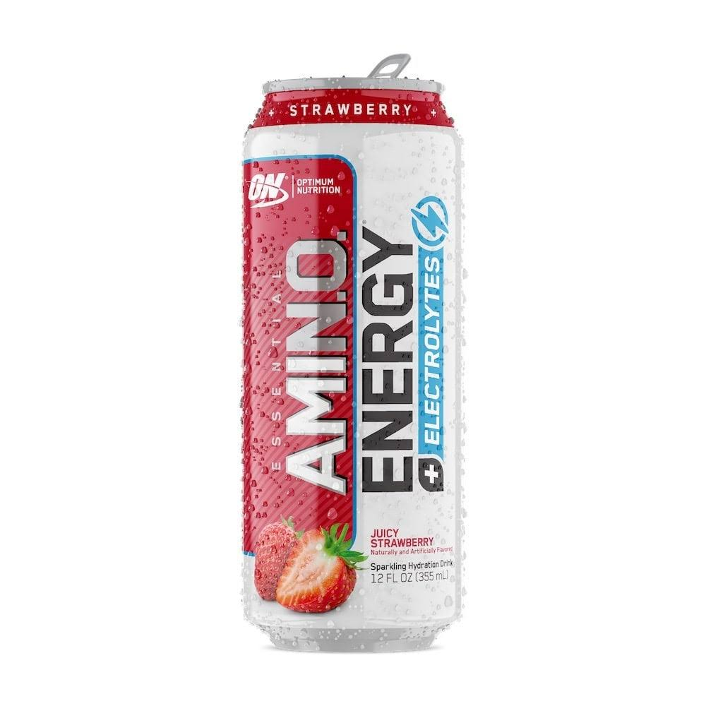 Optimum Nutrition Amino Energy + Electrolytes, Essential, Juicy Strawberry - 12 fl oz
