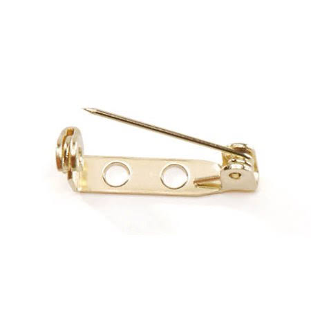 Darice Brass Plated Pin Back: 3/4 inch, Gold
