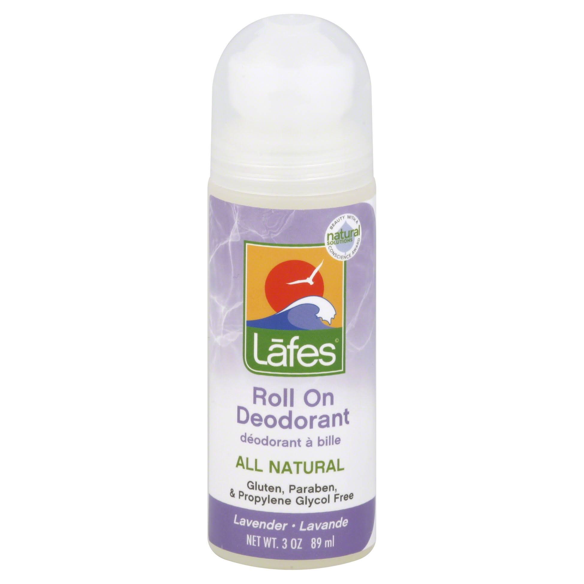 Lafes Natural & Organic Roll On Deodorant - Lavender
