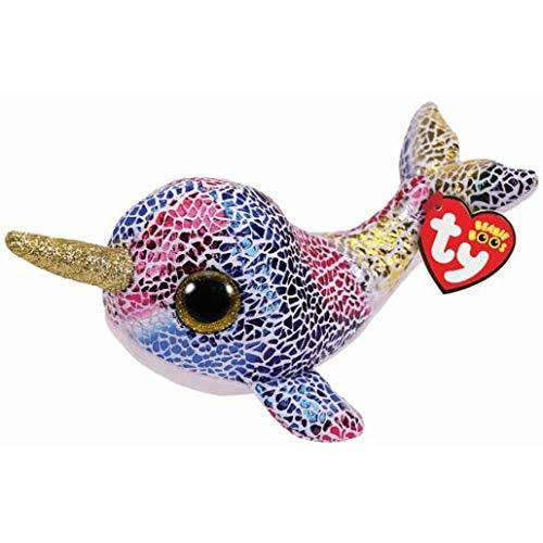 Ty Beanie Babies Boos Nova the Narwhal Plush Toy