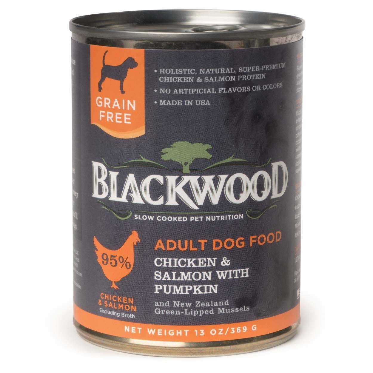 Blackwood Chicken & Salmon with Pumpkin Grain-Free Adult Canned Dog Food, 13-oz, Case
