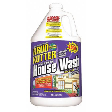 Krud Kutter HW01 Clear House Wash with Mild Odor - 1 gallon