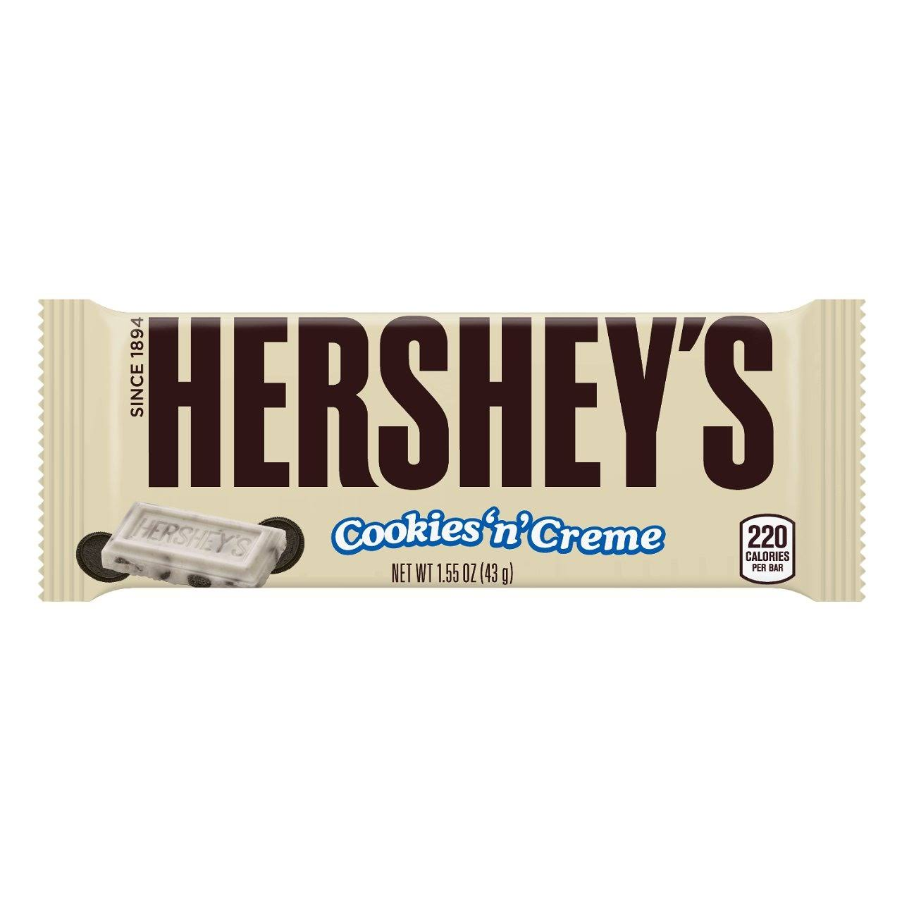 Hershey's Cookies N Creme Candy Bar - 43g