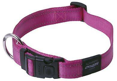Rogz Utility Reflective Lumberjack Dog Collar - Black, XLarge, 1in