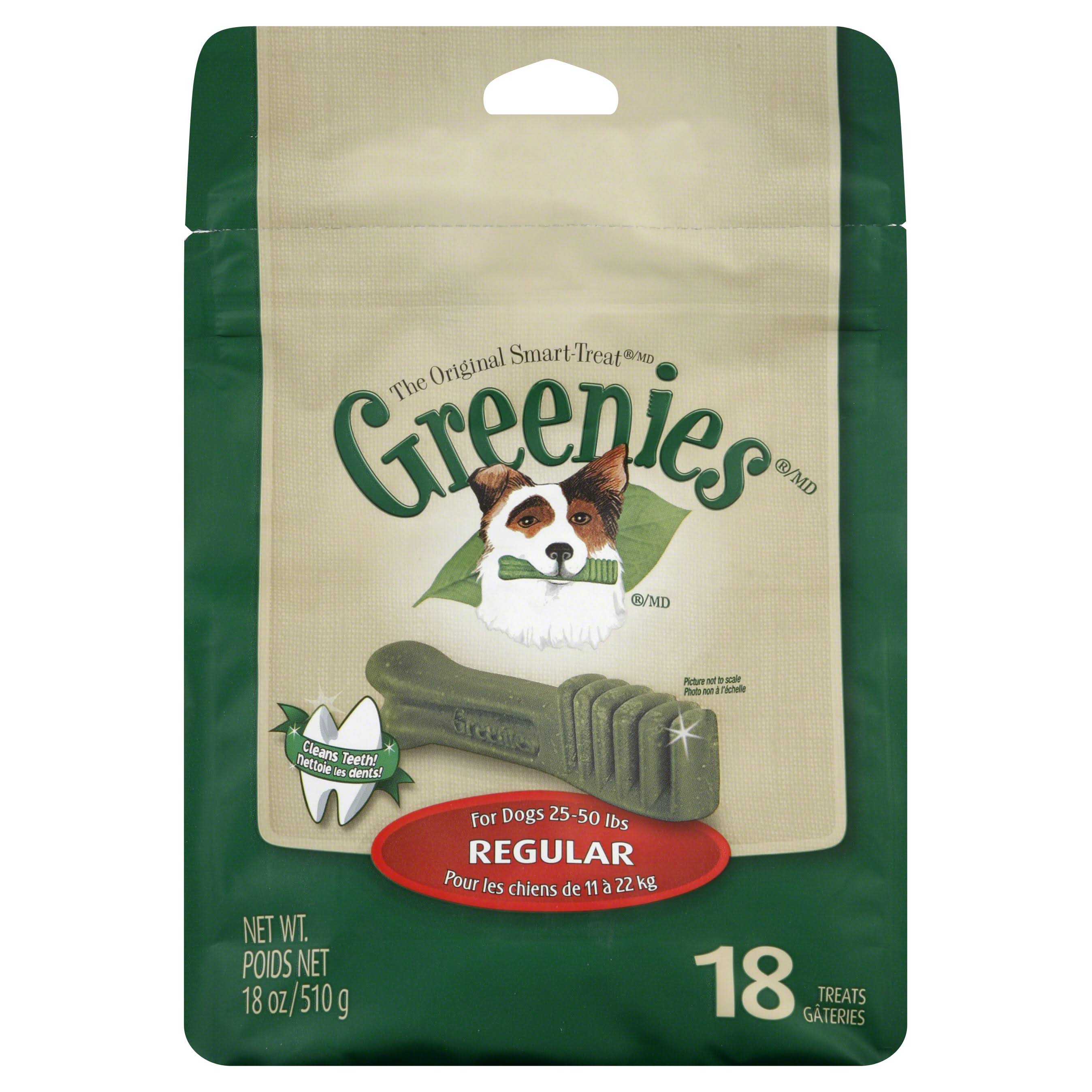 Greenies Powerfully Good Regular Dental Dog Treats - 18oz