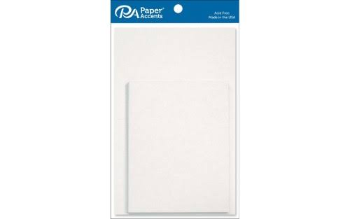 Paper Accents Card & Env 4.25x5.5 10pc White