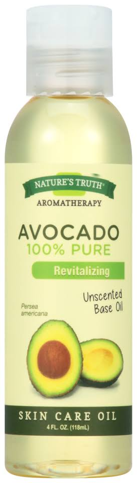 Nature's Truth Aromatherapy Pure Avocado Unscented Base Oil - 4oz