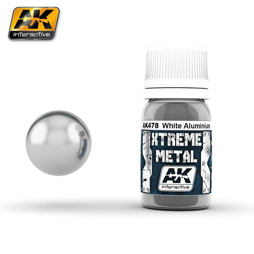 AK Interactive 30ml Xtreme Metal Paints - White Aluminium 00478