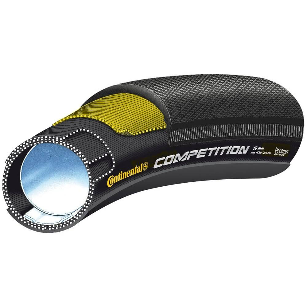 Continental Competition Tubular Road Bicycle Tire - Black, 28 x 22mm