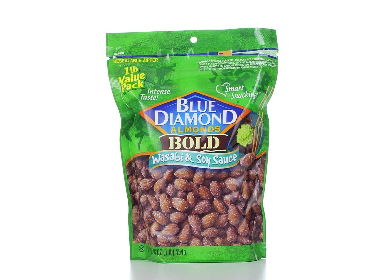Blue Diamond Almonds Bold Wasabi and Soy Sauce - 16oz