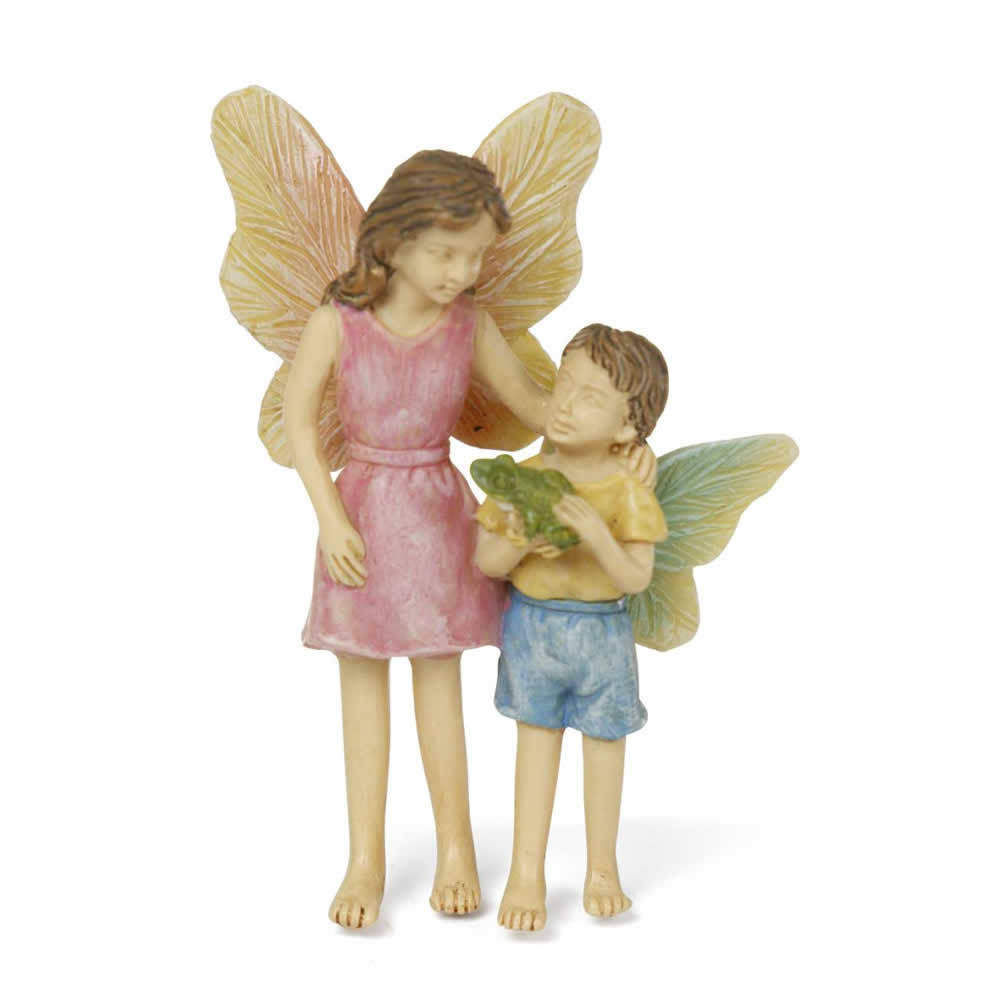 Marshall Home and Garden Miniature Summer Friends Fairy for Miniature Garden, Fairy Garden, White