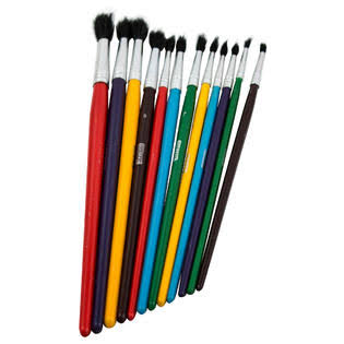 Bazic All Purpose Brush Set - Assorted, 12pk