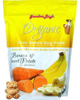Grandma Lucy's Organic Baked Dog Treats - Banana & Sweet Potato, 14oz