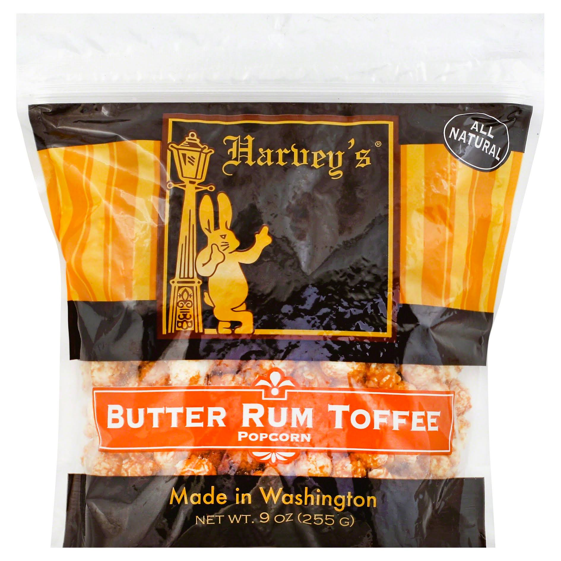Harveys Popcorn, Butter Rum Toffee - 9 oz