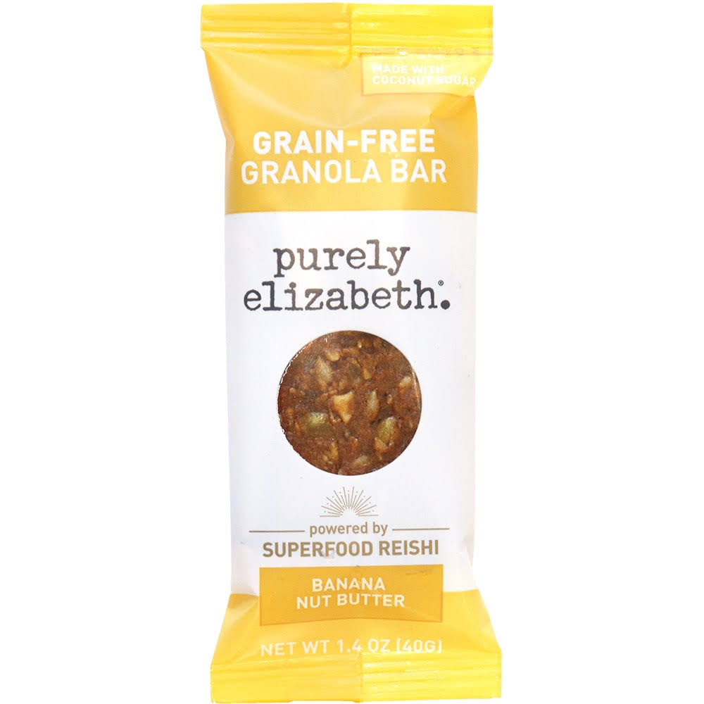 Purely Elizabeth Bar, Grain-Free, Banana Nut Butter + Reishi - 1.4 oz