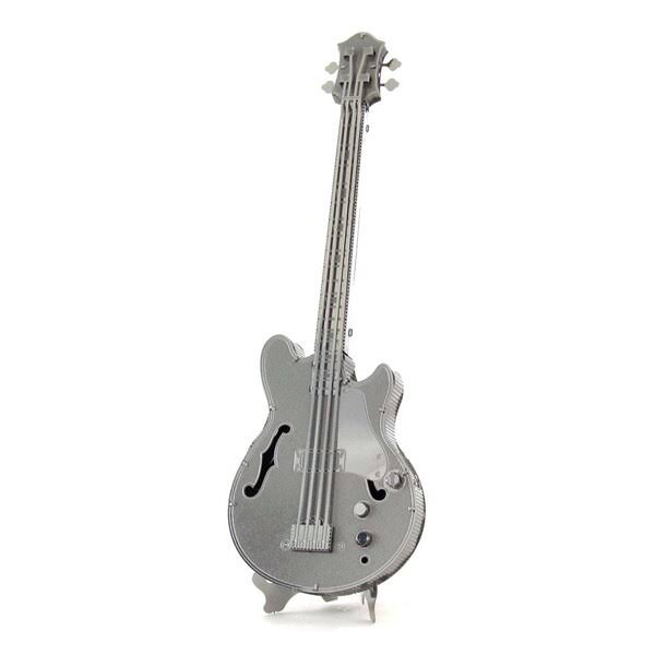 Fascinations Metal Earth Instruments Electric Bass Guitar 3D Model Kit