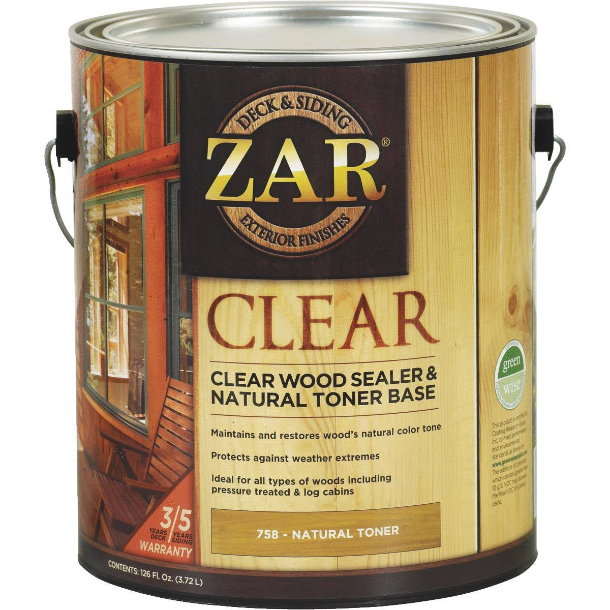 Zar Deck & Siding Clear Wood Sealer & Stain 1 gal., Clear