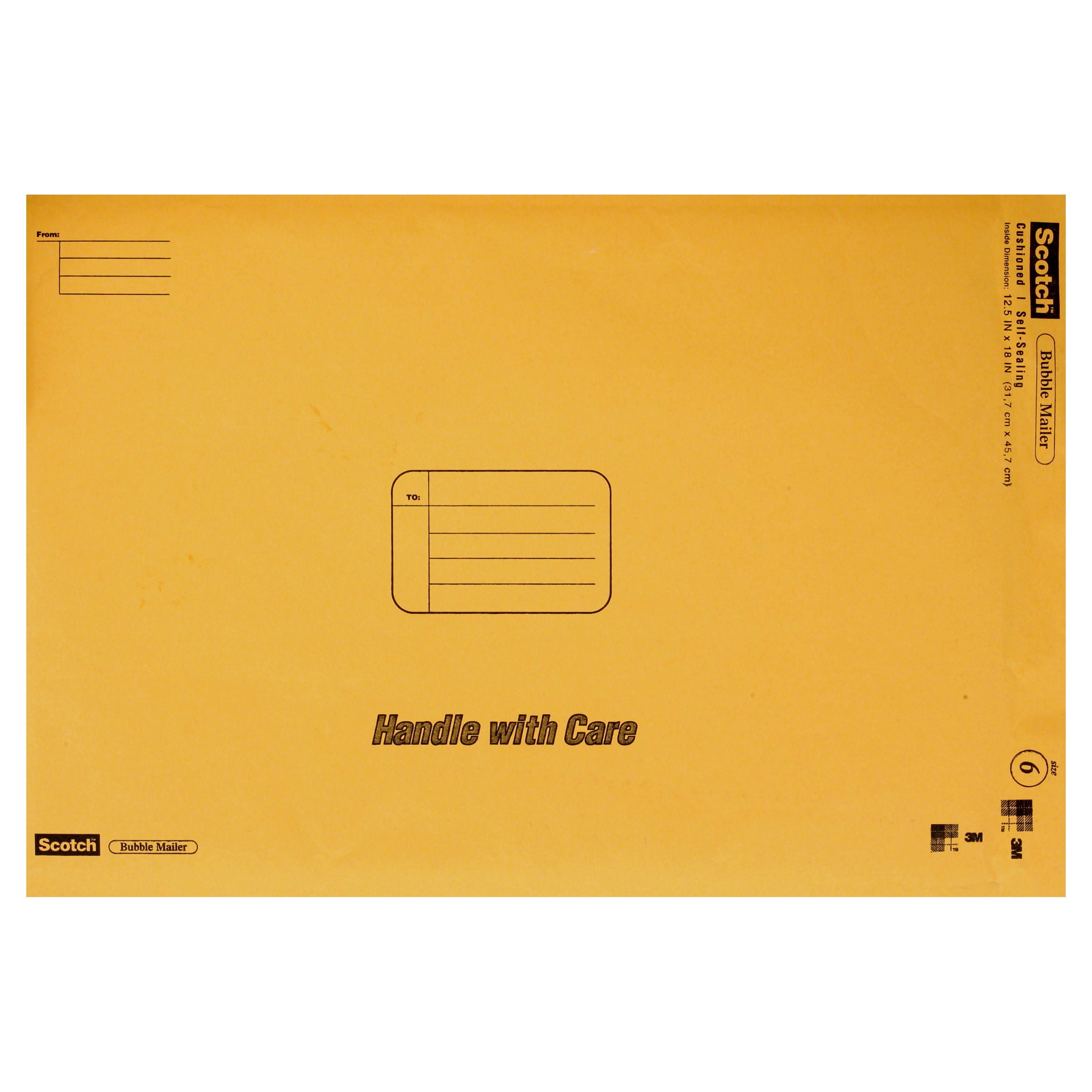 "3M Scotch Bubble Mailer, Self-Sealing, 12.5"" x 18"""