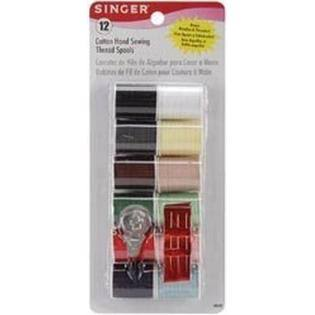 Singer Mercerized Cotton Hand Thread - Assorted Colors, 12ct