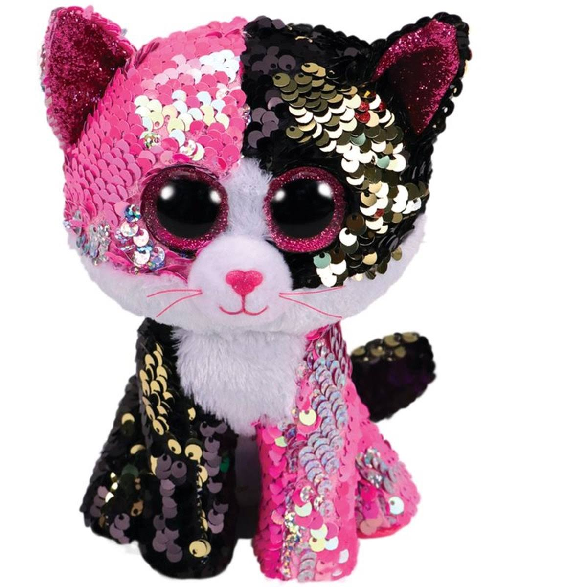 Ty Flippables Malibu The Flippable Sequin Cat Toy - 6""