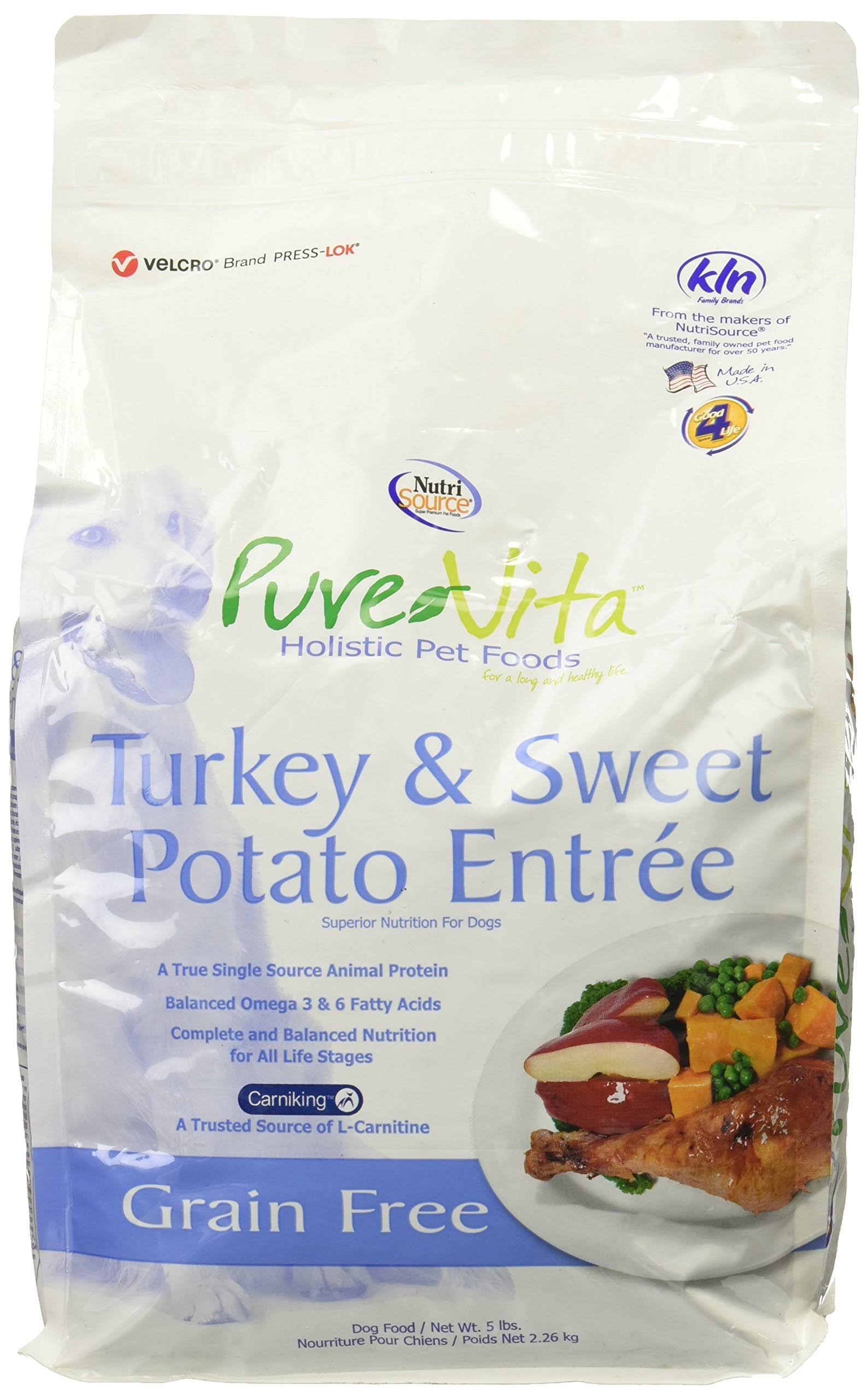 PureVita Grain Free Dry Dog Food - Turkey & Sweet Potato Entrée