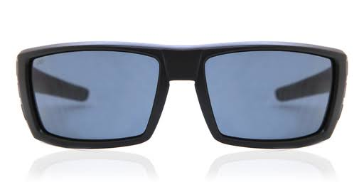 Costa Del Mar RFL01OGP Rafael Square Sunglasses - Blackout Frame and Gray Lens