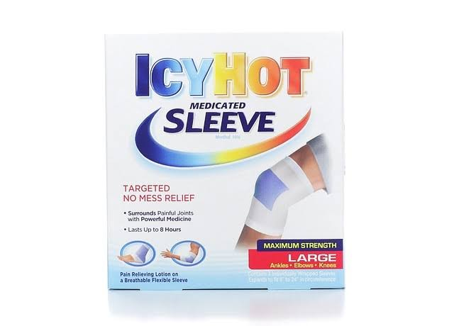 Icy Hot Maximum Strength Ankles Elbows and Knees Medicated Sleeve - Large, 3pk