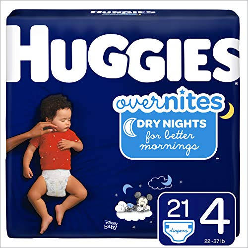 Huggies OverNites Diapers Size 4 Jumbo Pack - 21 ct